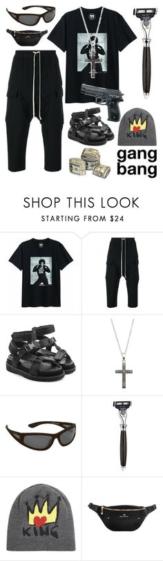 """""""wtf? gang bang look"""" by bellaswon ❤ liked on Polyvore featuring Rick Owens, Maison Margiela, Saks Fifth Avenue, Body Glove, The Art of Shaving, Dolce&Gabbana, men's fashion and menswear"""