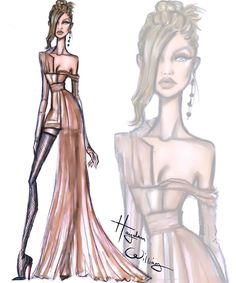 #Gigi Hadid by Hayden Williams  drawing