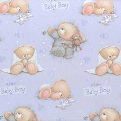 forever friends bear | New Baby Boy Forever Friends Gift Wrap