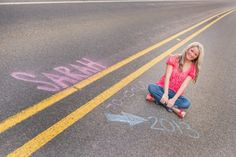 Senior pictures creative senior photography senior inspiration road chalk cute