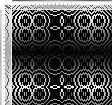 overshot | Mug Rug Quilt Squares | 4-shaft, 6-treadle