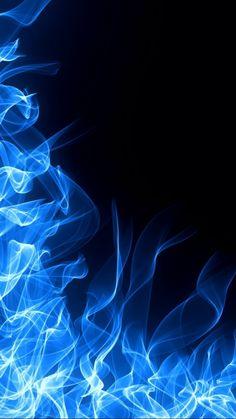 Blue Fiery Flame - Wallpaper