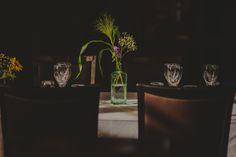 Wedding idea for flowers on a table // Hääkoristelu, pöytäkukka