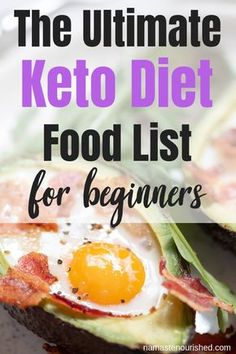 What Can You Eat on the Keto Diet? (Including a Keto Diet Food List The Ultimate Keto Diet Food List – What You Can and Can't Eat on the Keto Diet! Keto Foods, Ketogenic Recipes, Diet Recipes, Healthy Recipes, Ketogenic Diet, Jello Recipes, Diet Tips, Smoothie Recipes, Smoothies