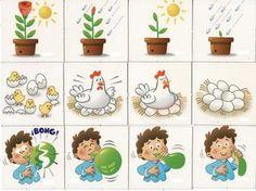 secuencias temporales para trabajar con niños y niñas de 3 a 6 años.