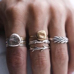 Sticks and Stones Ring Set