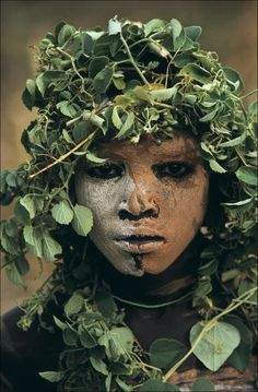 Portraits of the Surma and Mursi people of the Omo Valley in Southern Ethiopia by German born photographer Hans Silvester.(b. 1938)