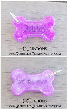 BLACK FRIDAY SALE 25% off #discount #coupon #code BLACKFRIDAY2014 Purple Glitter Bone Dog Tag Personalized by GabriellesCreations