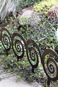 Spiral Garden Stake Steel Garden decor planter by ApocalypseFab, $7.00
