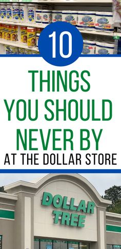 Dollar Tree is great for many items but there are a few items that you should never buy at the dollar store. Find out if you are wasting money by buying these 10 items. Frugal Living Tips, Frugal Tips, Frugal Meals, Money Saving Challenge, Money Saving Tips, Ways To Save Money, How To Get Money, Savings Plan, Money Management