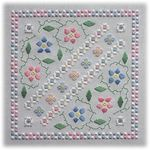 Floral Tiles III: Forget Me Not