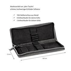 Federmäppchen / Stifte-Etui 012 in M, Leder Schwarz Usb Stick, Zip Around Wallet, Highlighter Pen, Black Leather, School, Table Desk, Gifts