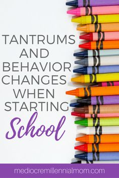 Behavior Changes When Starting School. Dealing with temper tantrums and acting out. Disciplining your pre-schooler.
