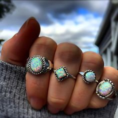 N A V A J O Opals available in our 'Navajo' Collection #navajo #navajoring #navajojewelry #opal #opalring http://www.indieandharper.com