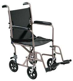Lightweight Steel Transport Wheelchair with Swing-away Footrest