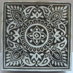 i'd like to recreate an indian wooden fabric block print piece to print on simple open weave light grey fabric for bedroom curtains.