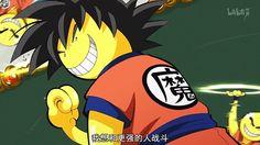 Koro sensei! There goes our Favorite teacher.. Parodying Goku the immortal lol!
