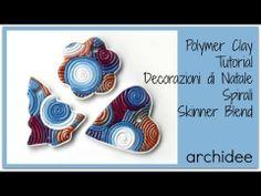 Tutorial   Polymer Clay   Decorazioni con spirali Skinner Blend   Fiocco di Neve Multicolor   DIY