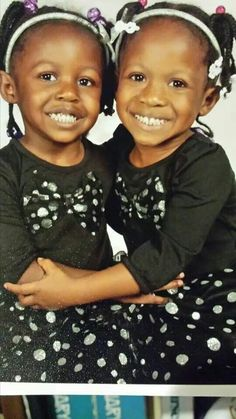 My grandtwins, Cherrye and Michelle.