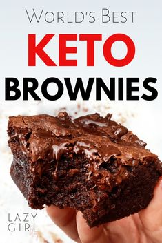 These keto brownies are the best. I've gone through test batch after test batch trying to find the perfect keto brownie recipe. Until I made these Keto Brownies. Finally World's Best Keto Brownies Recipe! Brownies Cétoniques, Brownies Caramel, Cheese Brownies, Chocolate Brownies, Chocolate Chips, Homemade Brownies, Chocolate Cheesecake, Almond Flour Brownies, Sugar Free Brownies