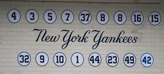 New York Yankees retired numbers | Flickr - Photo Sharing!