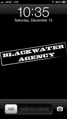 Blackwater Agency