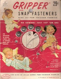 *Gripper Snap Fasteners
