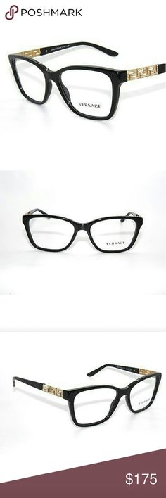 Versace Eyeglasses New and authentic  Versace Eyeglasses  Black frame  54mm Includes original case Versace  Accessories Glasses