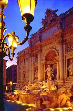 Trevi Fountain, Rome, Italy   One of the most beautiful spots at night :)