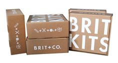 Introducing Brit Kits: Our Most Popular DIY Projects Delivered Monthly - what a great idea for a gift for your favorite pinner Craft Kits, Diy Kits, Craft Ideas, Brit, Hobby Kits, Grilling Gifts, Do It Yourself Crafts, Wedding Website, Cleaning Hacks