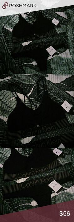 NWT Calvin Klein Modern Logo Set Brand new with original tags attached  No padding  Comes with Bralette and matching thong  Has a Strappy Back Detailing  *NO TRADES!!* Calvin Klein Intimates & Sleepwear