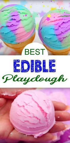 Amazing 2 ingredient DIY edible playdough…ice cream playdough too! If you want an easy playdough recipe then this is the one for you and it smells amazing! This is an easy DIY edible play doh recipe that is also NO cook. Ice Cream Playdough, Easy Playdough Recipe, Play Dough Ice Cream Recipe, Best Play Doh Recipe, 2 Ingredient Playdough, Edible Sensory Play, Baby Sensory Play, Sensory Play Recipes, Edible Play Dough