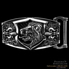 sterling silver Royal Blood Lion Buckle