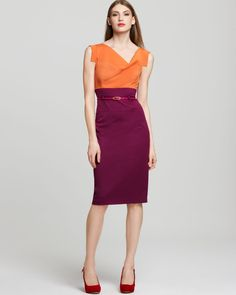 color blocking -- I see Ann Curry wearing these analogous colors and they look amazing on her but it's so contradictary to instinct!