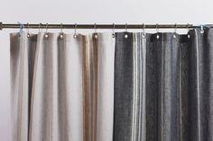 Rustic Linen Shower Curtain