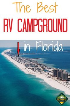 Looking for an awesome place to stay in FL? We loved staying at this RV campground. It's located on the Emerald Coast in Pensacola Beach, FL surrounded by beaches and amazing restaurants. The location is the best part! Florida Camping, Beach Camping, Florida Travel, Camping Life, Rv Camping, Rv Life, Camping Ideas, Rv Travel, Glamping