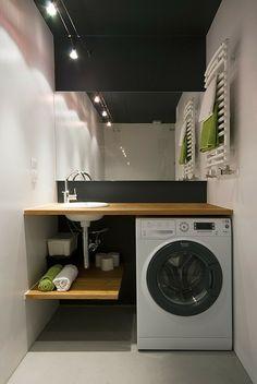 machine à laver sous plan de lavabo
