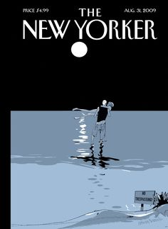 """The New Yorker - Monday, August 31, 2009 - Issue # 4322 - Vol. 85 - N° 26 - Cover """"No Trespassing"""" by Istvan Banyai"""