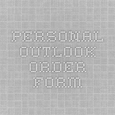 Personal Outlook - Order Form