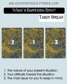 arcanemysteries:  What's Happening Now Tarot Spread.