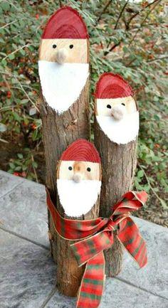 Père-Noël bûcheron