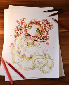 Chibi Belle by Lighane on DeviantArt