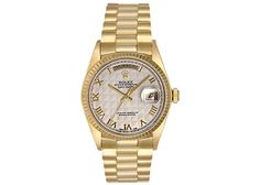 Rolex President Day-Date Men's 18k Yellow Gold Watch