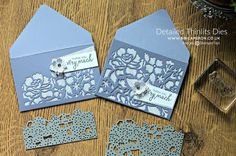2016 VIDEO TUTORIAL DIE CUT ENVELOPES + DETAILED FLORAL THINLITS DIES BY STAMPIN UP Detailed Floral Thinlits Dies - 141482 , Bunch Of Blossoms Photopolymer Stamp Set - 141573 , Petite Petals Punch - 133322 , Better Together Clear-Mount Stamp Set - 141736 ,