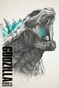 Alternative poster for Godzilla King of the Monsters movie. Make the 3 other monsters as inside the design of Godzilla because Godzilla is simply the king. All Godzilla Monsters, Godzilla Comics, Godzilla Godzilla, Godzilla Vs King Ghidorah, King Kong Vs Godzilla, Godzilla Party, Godzilla Birthday Party, Godzilla Wallpaper, Godzilla Tattoo