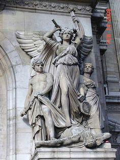 grand statues outside Opéra Garnier - image by audrey dassen Statue Ange, Archangel Gabriel, Angel Statues, Greek Art, Classical Art, Art And Architecture, Oeuvre D'art, Art Day, Sculpture Art