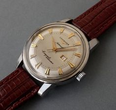 LONGINES CONQUEST Auto/Date Gents Vintage Watch 1959 ORIGINAL BOX #Longines