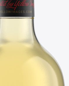 75cl Aleka Flint Glass Bottle W/ White Wine Mockup. Preview (Close-Up)
