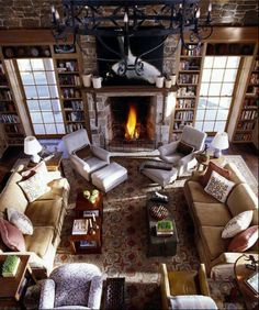 windows, fireplace & furniture placement