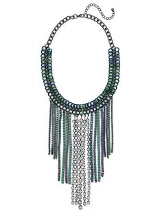 obsessed with our oceania link fringe necklace from the Courtney Kerr collection!